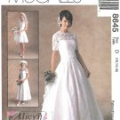 McCall's Sewing Pattern 8645 M8645 Misses Sizes 12-16 Alicyn Bridal Wedding Gown Dress