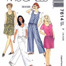 McCall's Sewing Pattern 7614 M7614 Misses Sizes 20-24 Button Front Jumpsuit Romper