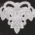 Lace Motif White  6 5/8 X 5 5/8 Garment Embellishment Crafts NOPS #56266  SKU 2585925