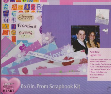 Wilton Memories of the Heart 8 X 8 Prom Scrapbooking Kit Scrapbook Pages Stickers Paper