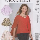 McCall's Sewing Pattern 7541 M7541 Misses Sizes 4-14 Pullover Top Length Hem Options