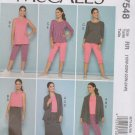 McCall's Sewing Pattern 7548 M7548 Womens Plus Sizes 18W-24W Knit Wardrobe Jacket Tops Skirt Pants