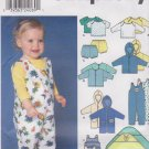Simplicity Sewing Pattern 9275 Baby Infant One Size To 18 Months Tiered Layette Top Overalls