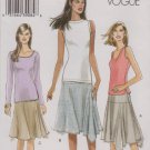 Vogue Sewing Pattern 8001 V8001 Misses Size 14-20 Easy Yoke Asymmetrical Knit Skirt