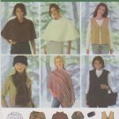 Simplicity Sewing Pattern 4781 0540 Misses Size 18-24 Ponchos Vest Scarf Head Band Bag