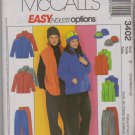 "McCall's Sewing Pattern 3402 M3402 Misses Mens Chest Size 31 1/2 - 40"" Easy Jacket Vest Pants Hat"