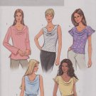 Butterick Sewing Pattern 4132 B4132 Misses Size 8-10-12 Easy Pullover Cowl Neck Top Tunic Belt