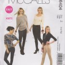 McCall's Sewing Pattern 6404 M6404 Misses Size 16-22 Easy Knit Leggings
