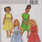 Butterick Sewing Pattern 4174 B4174 Girls'  Size 6-7-8 Easy Classic Sleeveless Short Sleeve Dresses