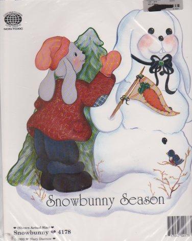 Ragamuffins Iron-On Transfer 4178 Snowbunny Season Mary Darrow