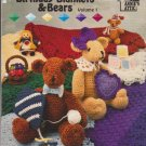 Birthday Blankets & Bears Volume 1 Annies Attic 87B68 Crochet Lap Baby Robes