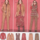 Simplicity Sewing Pattern 2287 Misses Size 10-18 Wardrobe Jacket Vest Pants Skirt Knit Top