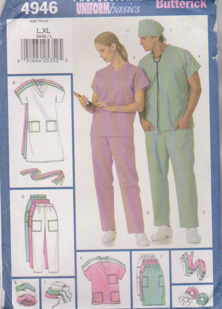 Butterick Sewing Pattern 4946 B4946 Mens Misses Unisex