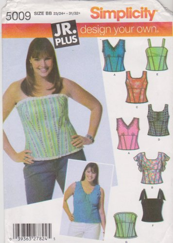 Simplicity Sewing Pattern 5009 Junior Plus Size 23 24