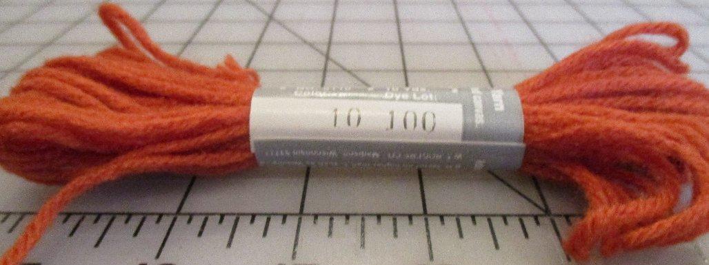 Pearl-Loft 4-Ply Spun Acrylic Yarn 10 Yards Lt Burnt Orange #10 Lot 100 Needlepoint Plastic Canvas