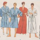 "Butterick Sewing Pattern 6968 B6968 Unisex Misses Mens  Size 30-32"" Front Wrap Robe Pajama Pants"