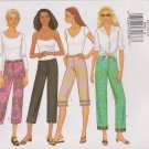 Butterick Sewing Pattern 6968 B6968 Misses Size 12-16 Easy Low Rise Straight Leg Pants Capri Cropped