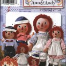"Simplicity Sewing Pattern 9447 Classic Raggedy Ann & Andy 15"" 26"" 36"" Dolls and Clothes"