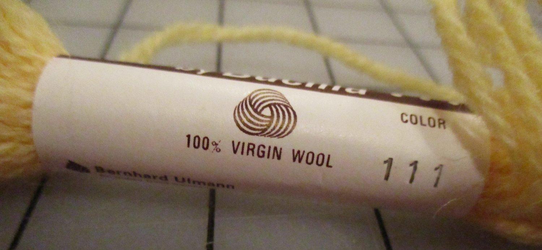 Bucilla Persion Needlepoint & Crewel 100% Wool 3 Ply 10 Yards #111 Yellow Embroidery Yarn