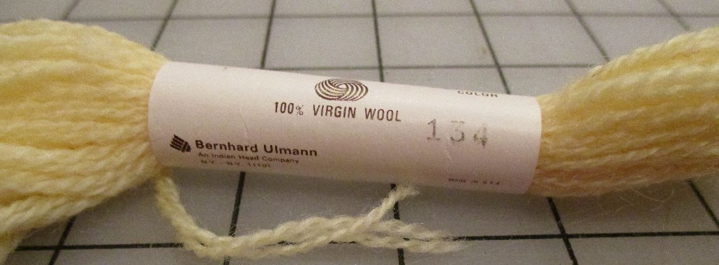 Bucilla Persion Needlepoint & Crewel 100% Wool 3 Ply 10 Yards #134 Light Yellow Embroidery Yarn