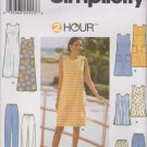 Simplicity Sewing Pattern 7140 Misses Size 6-10 2 Hour Wardrobe Dress Tunic Long Pants Shorts