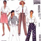 McCall's Sewing Pattern 6625 M6625 Misses Sizes 8-10 Pants Shorts Sash Belt