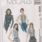 McCall's Sewing Pattern 3859 M3859 Misses Size 12-18 Button Front Pullover Lace Blouse Long Sleeves