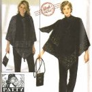 Simplicity Sewing Pattern 4373 Misses Size 4-16 Easy Top Pants Poncho Purse Scarf Patty Reed
