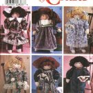 "Simplicity Sewing Pattern 8688 Crafts Stuffed 22"" Dolls and Clothes Dress Overalls Pantaloons"