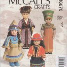 "McCall's Sewing Pattern 6670 M6670 International Clothes 18"" Dolls Egypt Peru Japan American Indian"