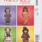"McCall's Sewing Pattern 6855 M6855 International Clothes 18"" Doll Africa India Ukraine China"