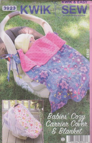 Kwik Sew Sewing Pattern 3923 K3923 Infants' Carrier Cover Blanket with Ties
