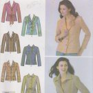 Simplicity Sewing Pattern 4491 Misses Size 8-16 Lined Front Button Jacket Blazer