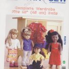 "Kwik Sew Sewing Pattern 2878 K2878 18"" Doll Complete Casual Wardrobe Clothes"