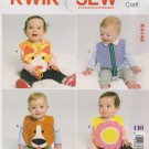Kwik Sew Sewing Pattern 4148 K4148 Baby Infant Toddler Decorative Bibs Pacifier Holder
