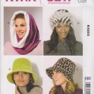 Kwik Sew Sewing Pattern 4203 K4203 Misses Sizes XS - L Hats 4 Styles Hood Beanie Bucket