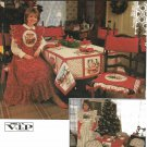 Simplicity Sewing Pattern 8772 Christmas Tablecloth Chair Covers Cushion Apron Napkins
