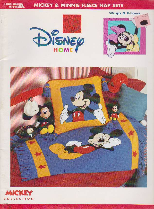 Mickey & Minnie Mouse Fleece Nap Sets Leisure Arts 3347 Mickey Collection