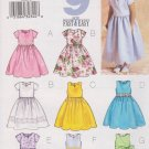 Butterick Sewing Pattern 3350 B3350 Girls' Sizes 2-5 Easy Formal Dress Sleeve Hem Neckline Options