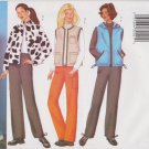 Butterick Sewing Pattern 6712 B6712 Misses Size 6-10 Easy Vest Jacket Pants Hooded