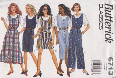 Butterick Sewing Pattern 6713 B6713 Misses Size 12-16 Easy Classic Top Jumper Jumpsuit