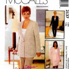 McCall's Sewing Pattern 2137 M2137 Misses Size 8 Classic Jacket Pants Skirt