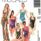 McCall's Sewing Pattern 2221 M2221 Missses Size 20 Swimsuits Bathing Suit One Piece Pareo