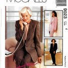 McCall's Sewing Pattern 9023 M9023 Misses Size 6 Suit Jacket Top Pants