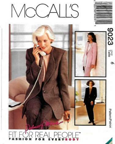 McCall's Sewing Pattern 9023 M9023 Misses Size 6 Suit Jacket Top Pants