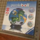 "NEW Dragon World 240 Piece Puzzleball Ravensburger Ages 10-99 6"" Globe Shaped"
