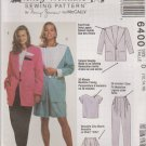 McCall's Sewing Pattern 6400 M6400 Misses Sizes 12-16 Unlined Jacket Top Pants Shorts