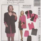 McCall's Sewing Pattern 6450 M6450 Misses Size 10-14 Nancy Zieman Reversible Jacket Skirt Top Shorts