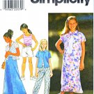 Simplicity Sewing Pattern 8555 Girls Size 7-10 Wardrobe Skirt Shorts Pants Skirt Knit Tank Top