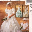McCall's Sewing Pattern 7502 M7502 Misses Size 14 Alicyn Wedding Dress Bridal Gown Bridesmaid
